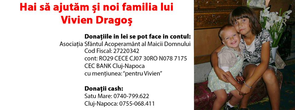 Haideti sa ajutam si noi familia lui VIVIEN DRAGOS