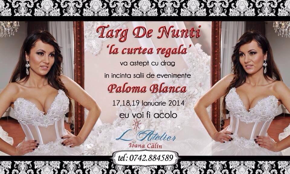 Ioana Calin va invita azi si maine la Targul de Nunti la Paloma Blanca