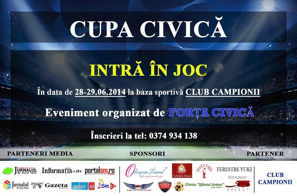 """Rezultatele turneului de minifotbal """"CUPA CIVICA"""" Satu Mare"""
