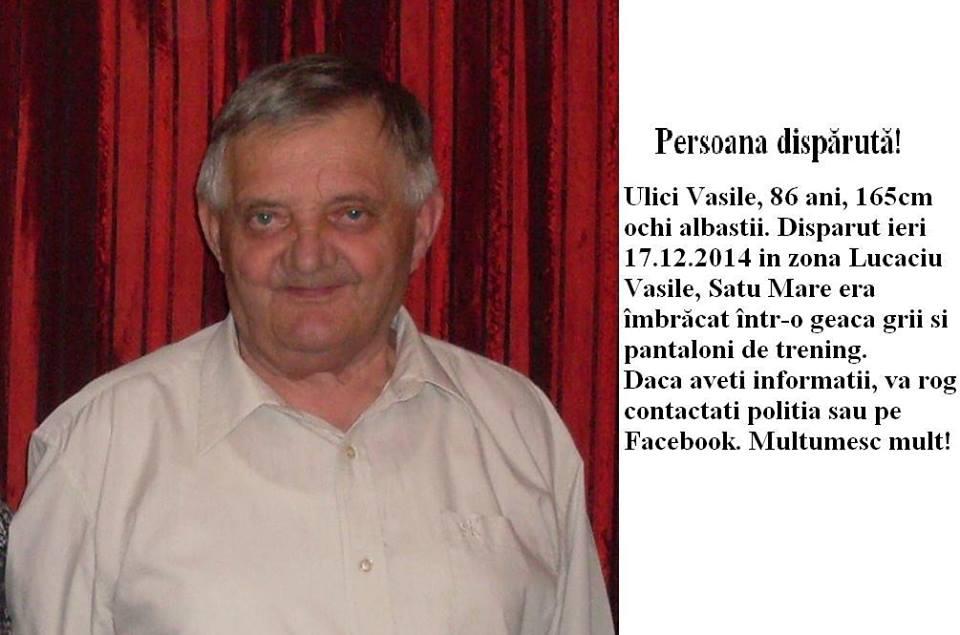 Persoana disparuta in Satu Mare!