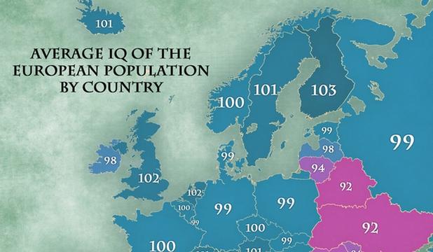 Cât de inteligenţi sunt românii? Harta coeficientului de inteligenţă la nivel european