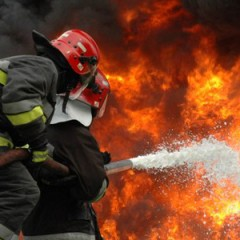 Incendiu de amploare la o hala de termopane din localitatea Odoreu