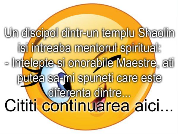 Bancul zilei :) Discipolul Shaolin si mentorul sau spiritual…