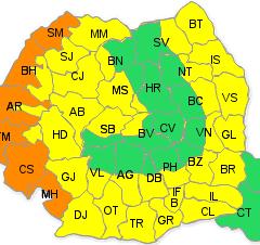 Pericol: Cod portocaliu de vreme severa la  Satu Mare