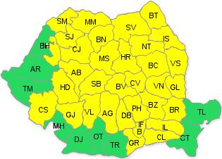 UPDATE: Situatia se inrautateste: cod galben de furtuna la Satu Mare