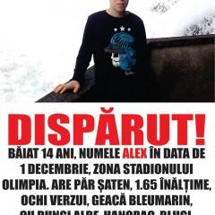 Baiat de 14 ani disparut la Satu Mare