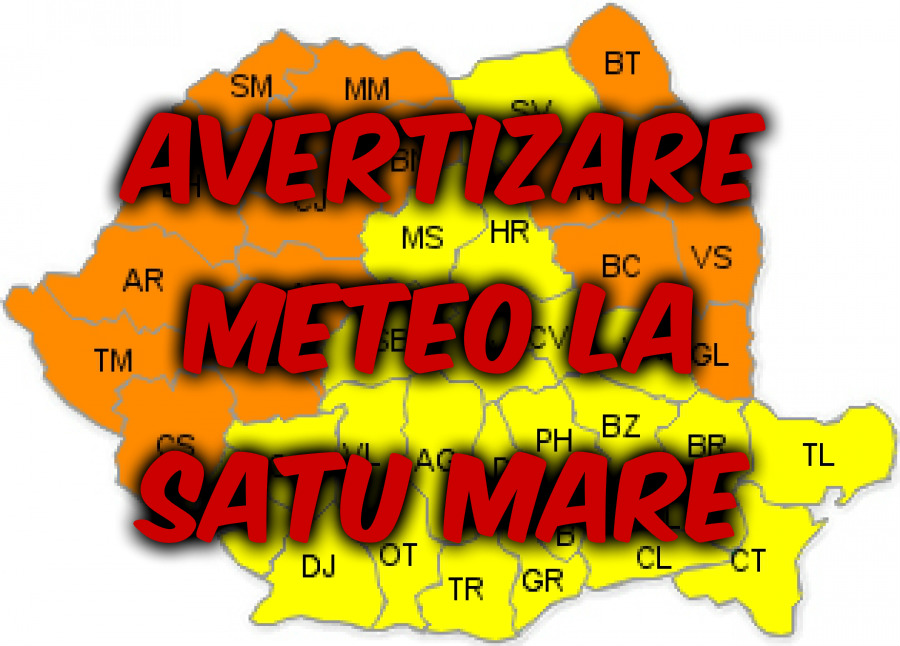 Avertizare meteo la Satu Mare: VANT si NINSORI abundente in aceasta dupa-amiaza