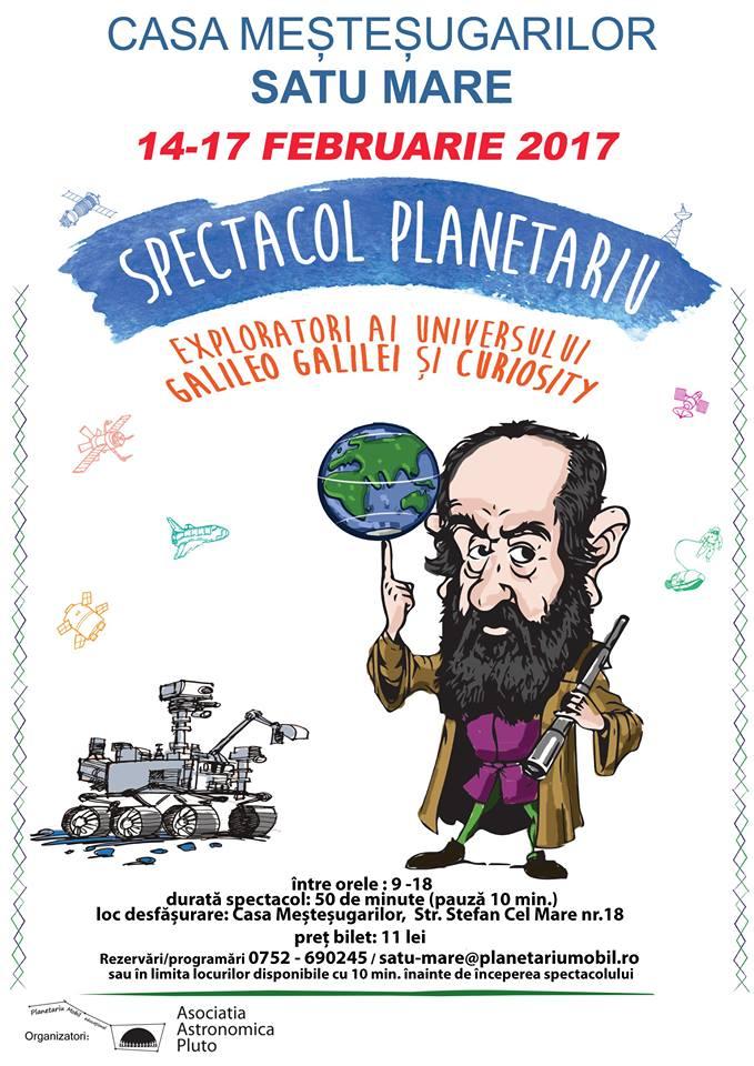 Robotul Curiosity și Galileo Galilei sunt la Satu Mare, în primul planetariu mobil din România