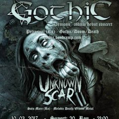 Concert Gothic si Unknown Scar la Satu Mare