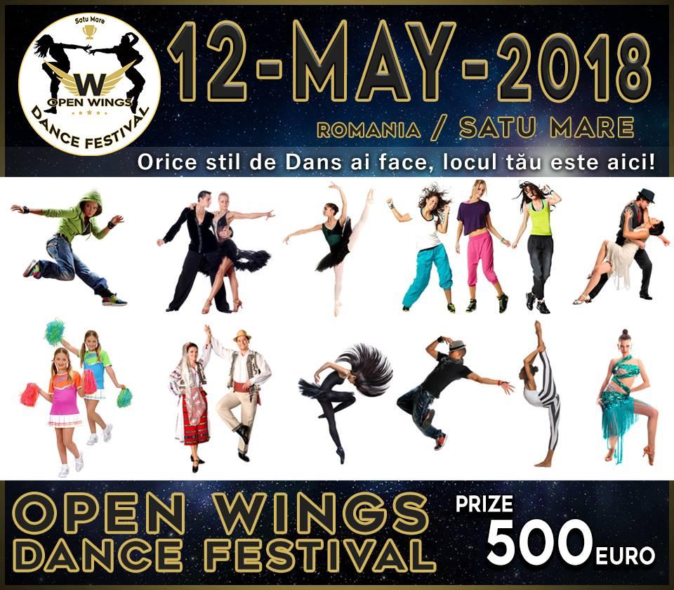 Open Wings Dance Festival – la prima editie, pentru toate stilurile de dans! In 12 mai 2018 la Satu Mare