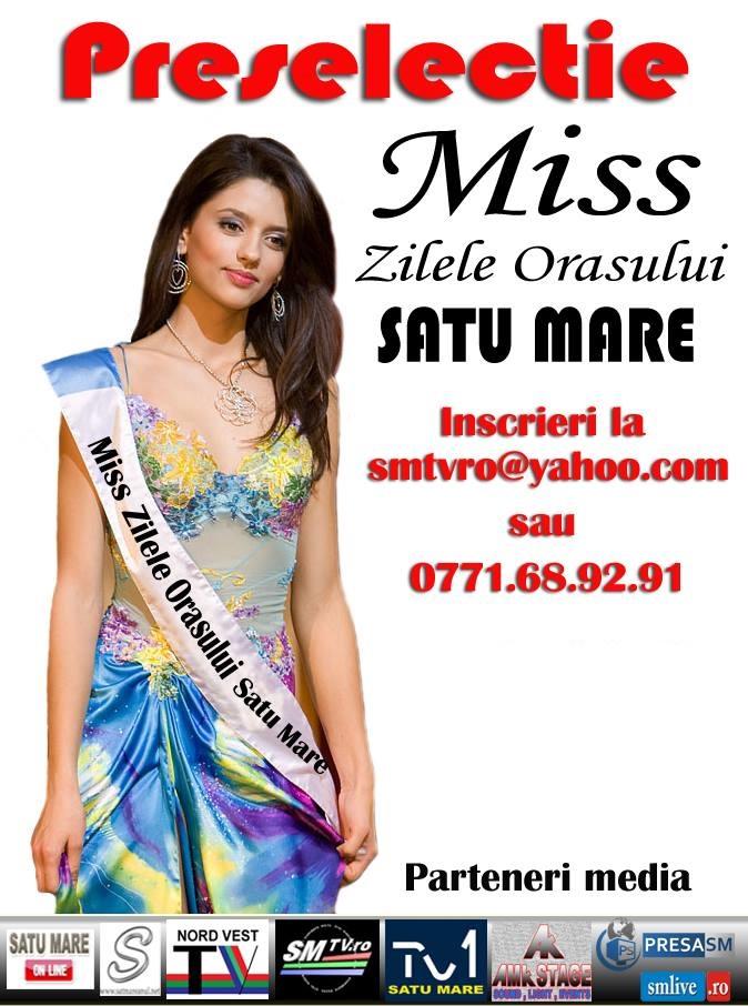 Continuă preselecțiile pentru Miss Zilele Orașului Satu Mare! Află ce trebuie să faci pentru a participa