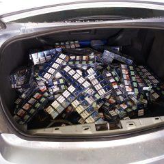 Țigări de contrabandă confiscate ieri de polițiștii sătmăreni