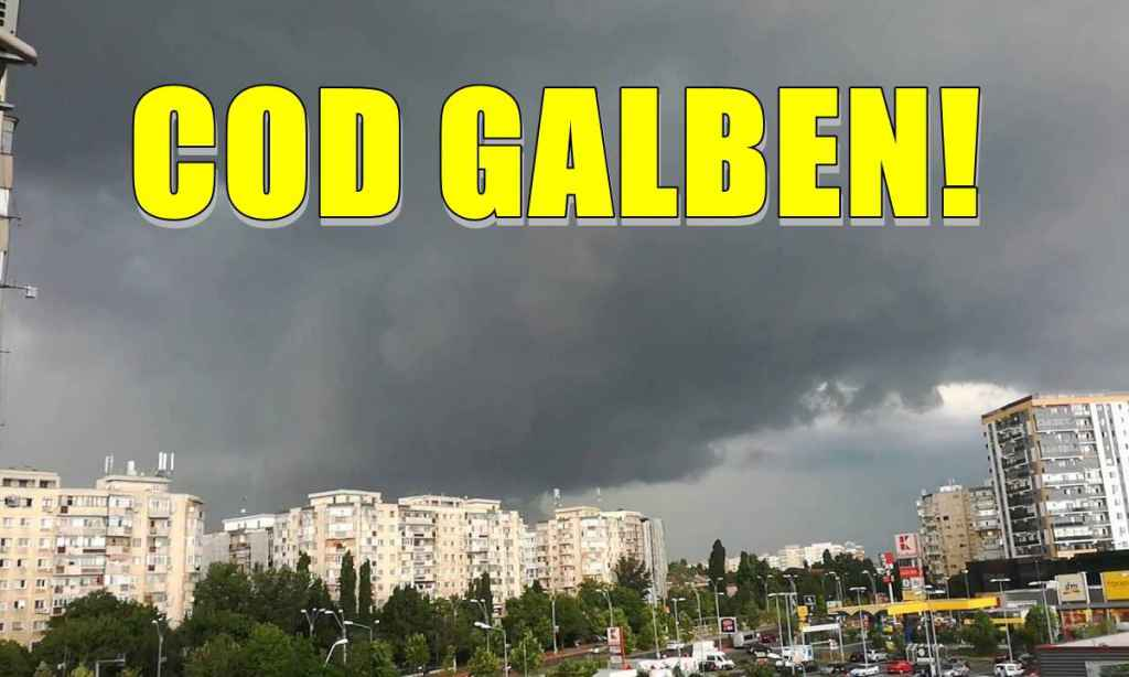 Cod GALBEN de instabilitate atmosferică temporar accentuată pentru județul Satu Mare