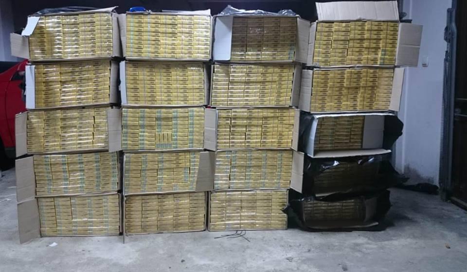 Țigări în valoare de 117.000 de lei confiscate la frontieră