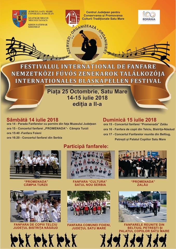 Cea de-a II-a ediție a Festivalului Internațional de Fanfare la Satu Mare