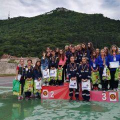 """Echipajul de fete de la Palatul Copiilor Satu Mare pe primul loc la concursul """"Prietenii Pompierilor"""""""