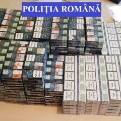 Țigări de contrabandă confiscate de polițiștii sătmăreni