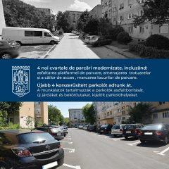 4 cvartale de parcari au fost modernizate in municipiul Satu Mare