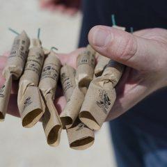 Barbat din Homoroade prins cu obiecte pirotehnice