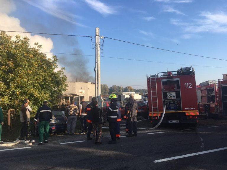 Din ce cauza a izbucnit incendiul de la hala din Ciuperceni