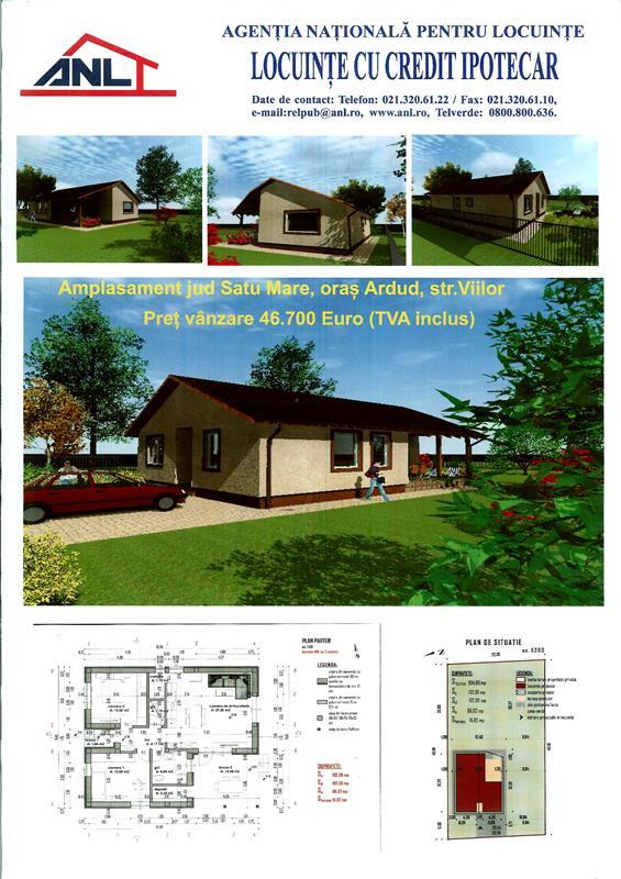 Vedeti cum vor arata casele construite in Ardud de ANL