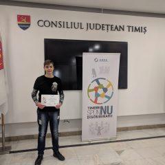 """FOTO Cum arată poza cu care un elev sătmărean a câștigat premiul I la concursul internațional """"Tinerii spun NU discriminării"""""""