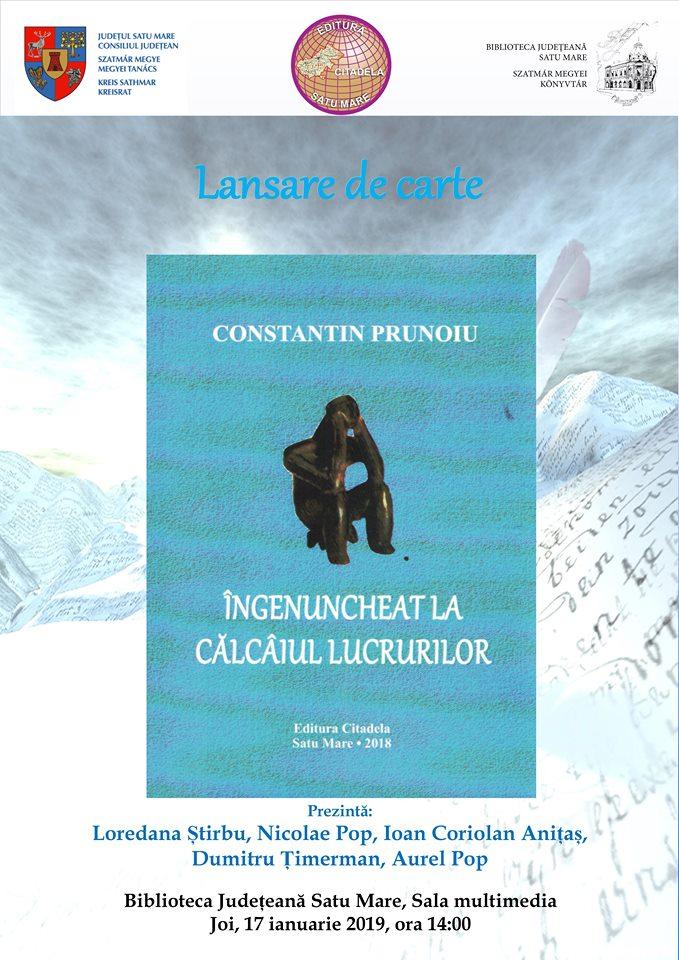 O nouă lansare de carte la Biblioteca Județeană Satu Mare