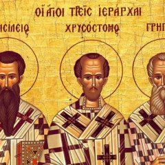 Azi 30 ianuarie: Sfintii Trei Ierarhi: Vasile, Grigorie si Ioan