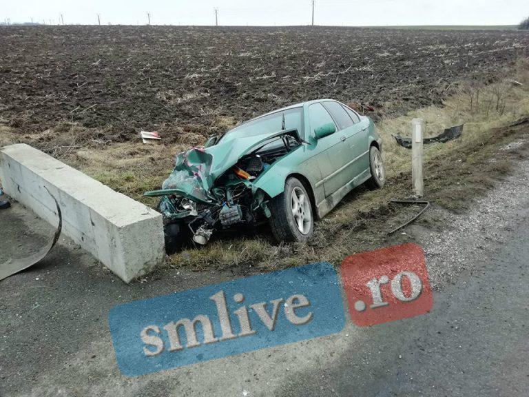 GALERIE FOTO! Accident grav cu 4 mașini lângă Carei. Mai multe persoane au fost încarcerate