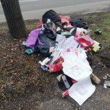 Un morman de deșeuri a fost aruncat direct pe spațiul verde în municipiul Satu Mare