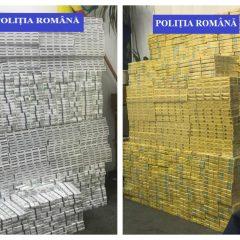 Captură impresionantă de țigări de contrabandă, confiscate de polițiștii sătmăreni