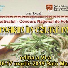 """Festivalul Folcloric """"Rozmarin în colţu' mesii"""" la cea de-a VI-a ediție"""