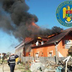 Incendiu în Satu Mare la o casă de locuit