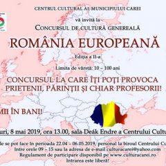 A doua ediție a concursului de cultură generală România europeană