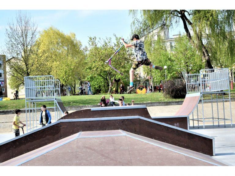 Cel mai mare skatepark din municipiul Satu Mare în parcul Ufo