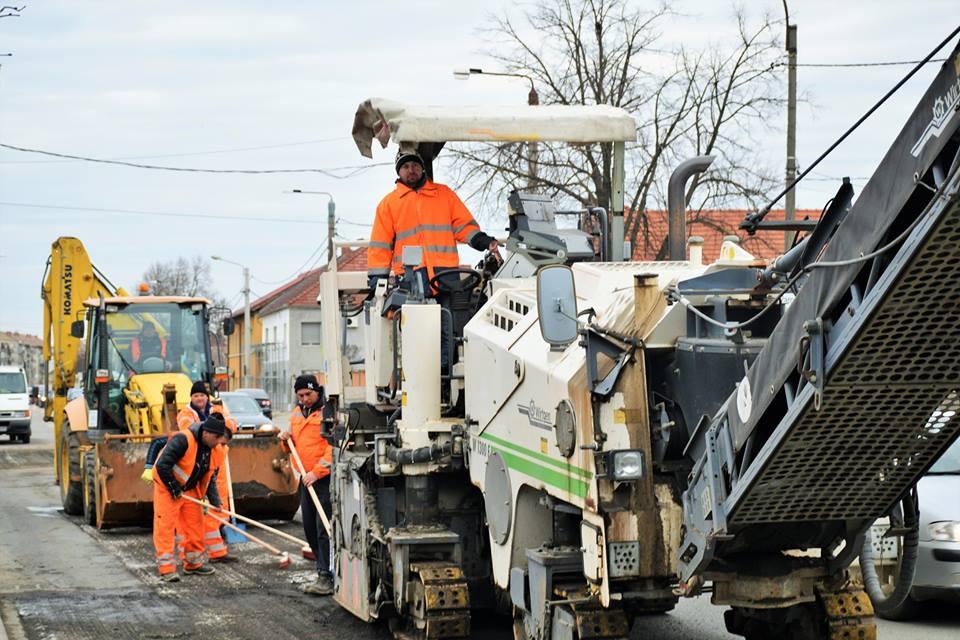 Pe o stradă din municipiul Satu Mare se vor executa lucrări de reparații ale carosabilului