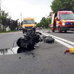 Accident rutier cu 3 mașini implicate, pe B-dul Lucian Blaga din Satu Mare