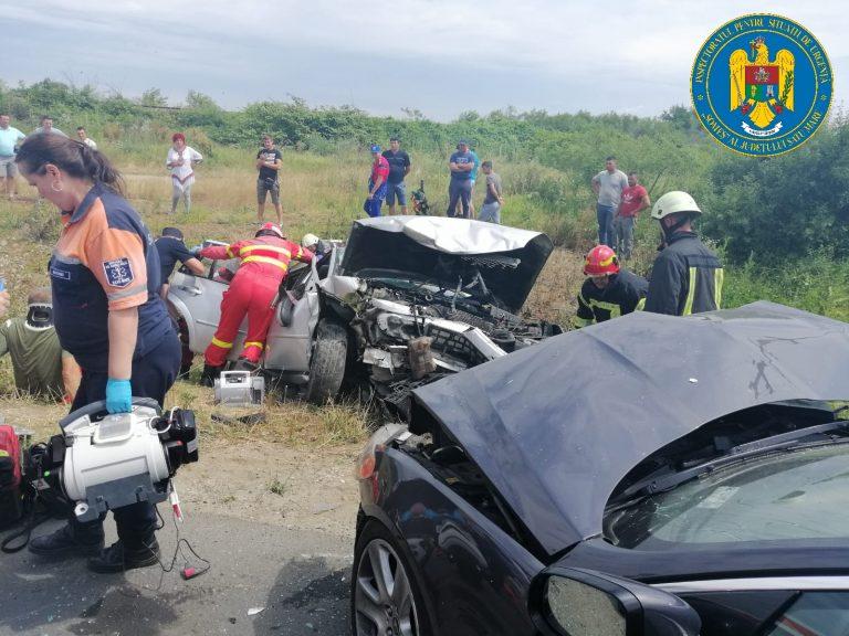 FOTO Accident grav de circulație între Odoreu și Băbășești