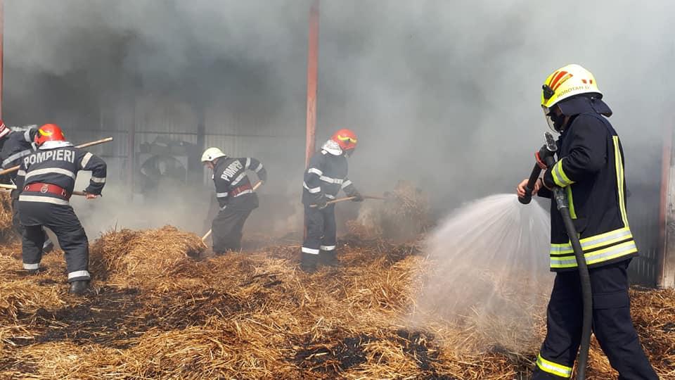 FOTO Incendiu la un șopron din județul Satu Mare