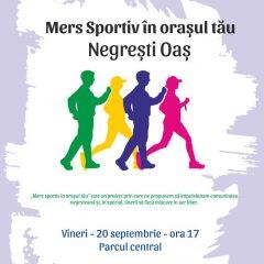 """""""Mers sportiv în orașul tău – ediție specială"""" la Negresti Oas"""