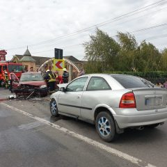 Accident frontal in localitatea Botiz