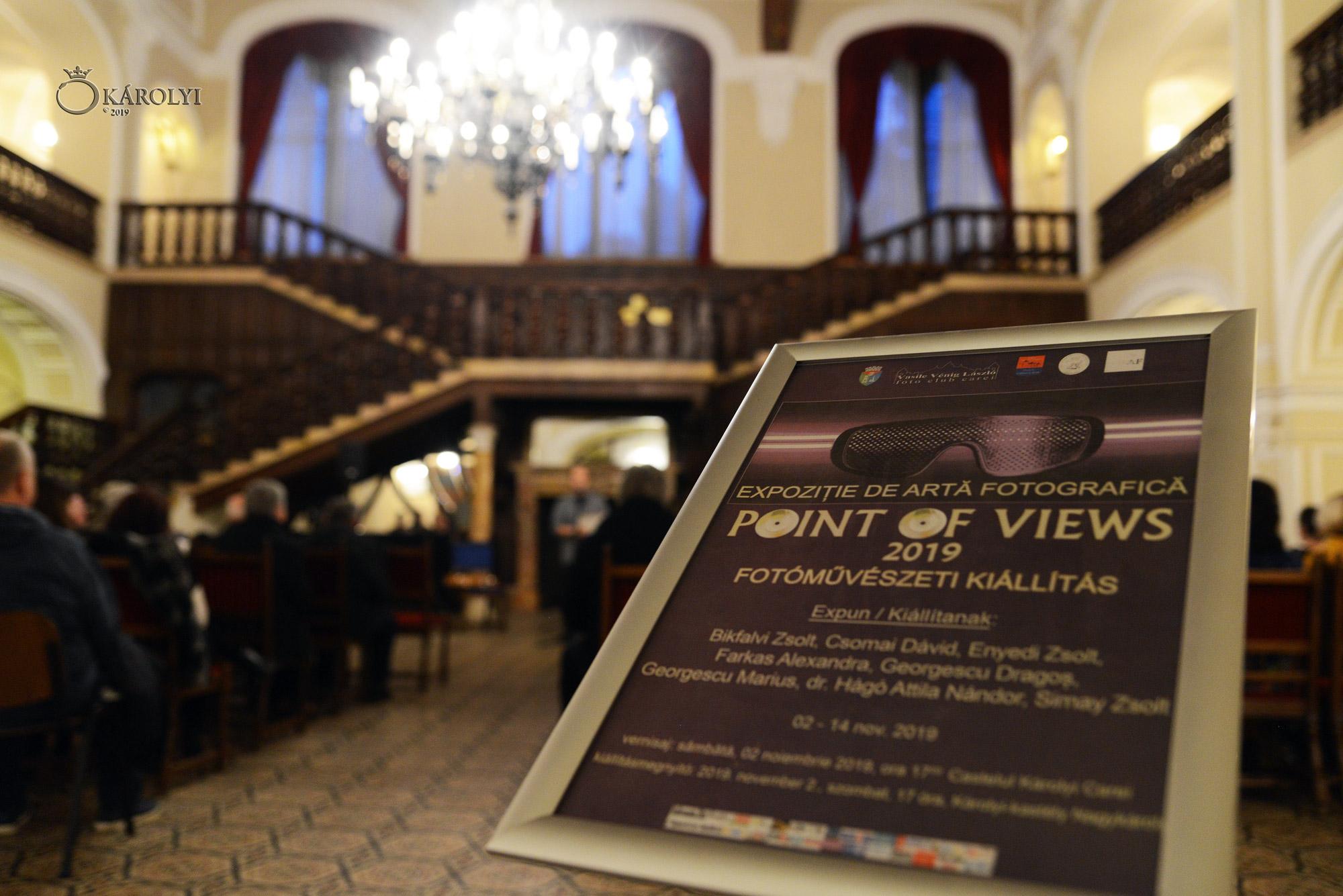 """Vernisajul expoziției aniversare de fotografie """"Point of views"""" al Clubului Foto """"Vasile Vénig László"""" la Castelul din Carei"""