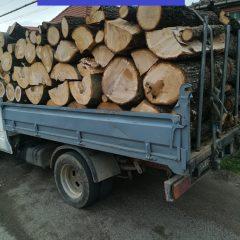 Material lemnos confiscat de polițiștii sătmăreni