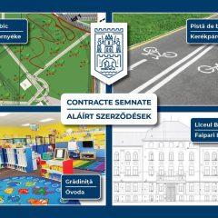 Patru noi contracte finanțate din fonduri europene pentru municipiul Satu Mare