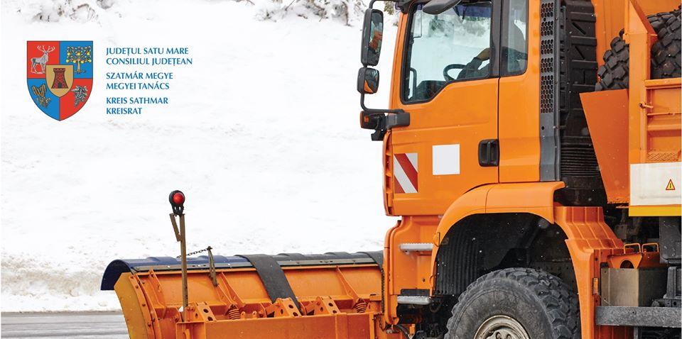 Consiliul Județean anunță că județul Satu Mare este pregătit pentru iarnă