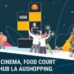 Azi se deschid Cinema One Laserplex Satu Mare, noul Food Court și Cartier Hub la Aushopping Satu Mare. Vedeţi programul complet