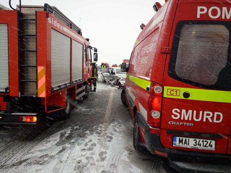 FOTO! Accident rutier cu victime lângă Moftinu Mic