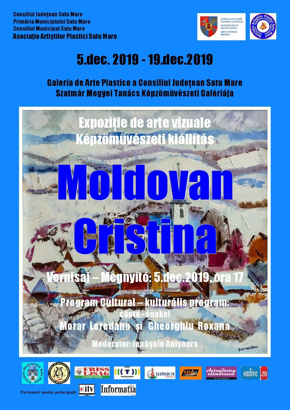 Expoziției de arte vizuale a artistei Moldovan Cristina, membrul Asociației Artiștilor Plastici Satu Mare