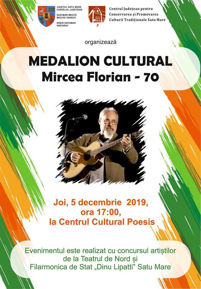 """Medalion Cultural """"Mircea Florian"""" – 70"""