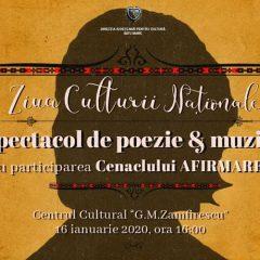 "Ziua Culturii Naționale, azi la  la Centrul Cultural ""G.M.Zamfirescu"""